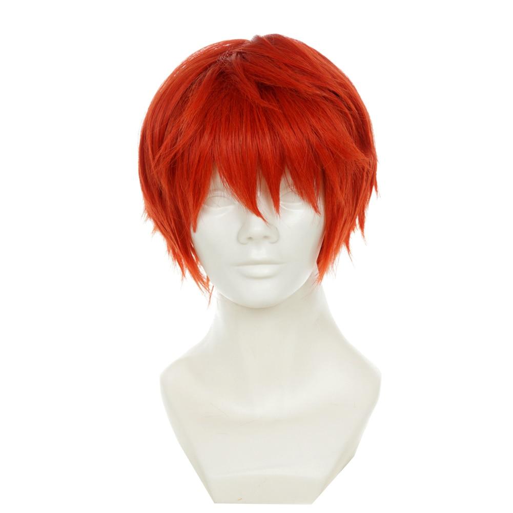 "Brdwn Assassination Classroom Akabane Karuma destino Emiya Shirou 30cm/11,8 ""corto naranja recta Cosplay Hairwear"