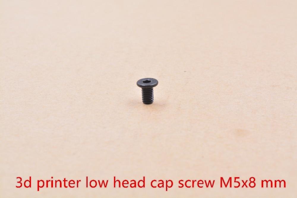 3d printer screw low head cap screw M5 screw 6mm 8mm 10mm 15mm 20mm 25mm 30mm 35mm 40mm carbon steel
