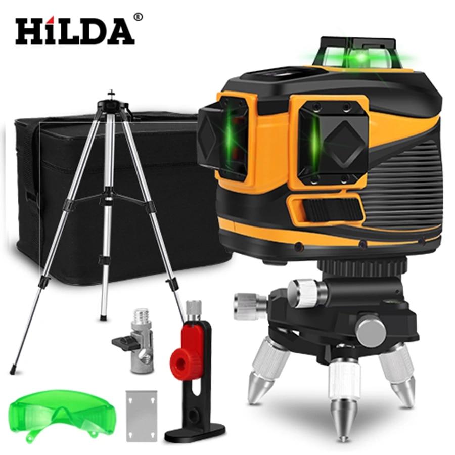 Hilda 12 Lines Laser Level 3d Self Leveling 360 Horizontal And Vertical Cross Super Powerful Green Laser Beam Line Laser Levels Aliexpress