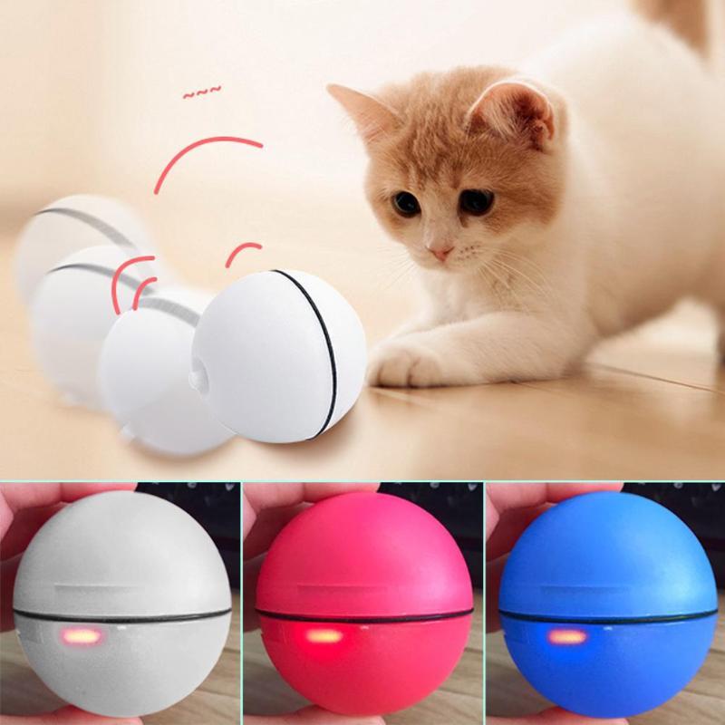 Katze Hund LED Laser Ball Rot Licht Elektronische Roll Ball Spielzeug für Katze Kätzchen Lustige Interaktive Ball Spielzeug Katze Pet produkte
