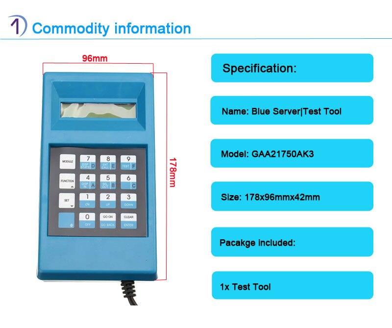 GAA21750AK3 مصعد أزرق 100%, أداة اختبار زرقاء أصلية وجديدة غير محدودة إلغاء القفل أداة خدمة المصعد العلامة التجارية الجديدة! أعلى جودة