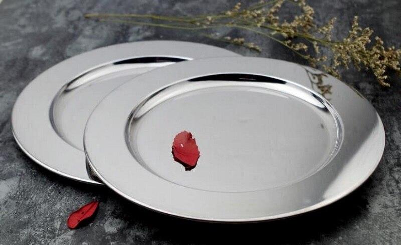 Тарелка для салата из нержавеющей стали высокого качества, 1 шт., маленький лоток для ювелирных изделий, посуда для пудинга