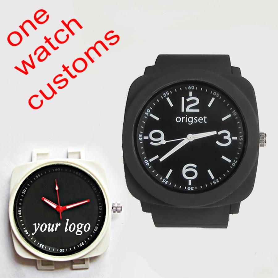 dropship customize single watch face dial printing drop ship fast rubber sports men customs your own logo brand dropshipping