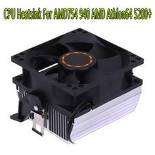 80*80*25 мм бесшумный 3-контактный охлаждающий вентилятор для процессора радиатор для процессора 7 лезвий для AMD для AMD754 939 940 AMD Athlon64 5200
