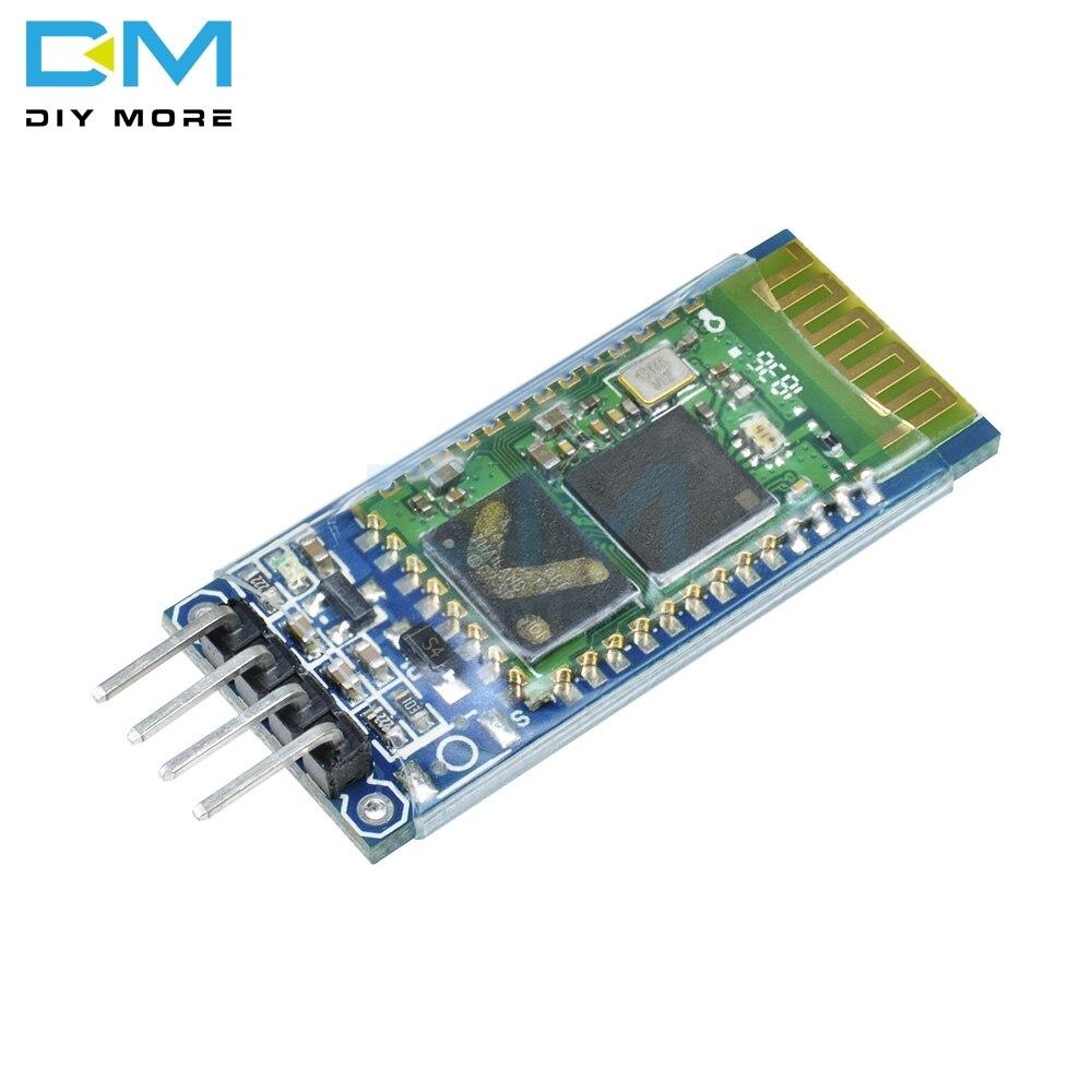 Módulo inalámbrico HC-05 HC05 Compatible con Arduino Serial, 6 pines módulo receptor Bluetooth de RF, tarjeta esclava maestra RS232