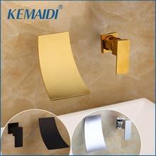 KEMAIDI cascade bec robinet de bassin mitigeur Chrome/or salle de bain lavabo robinet large lavabo évier mélangeur grue