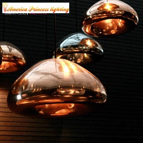 Bacia de bronze lustres de vidro, material vidro, grande E27/E14 pequeno, cor cobre de ouro/prata/ouro, AC110-240V