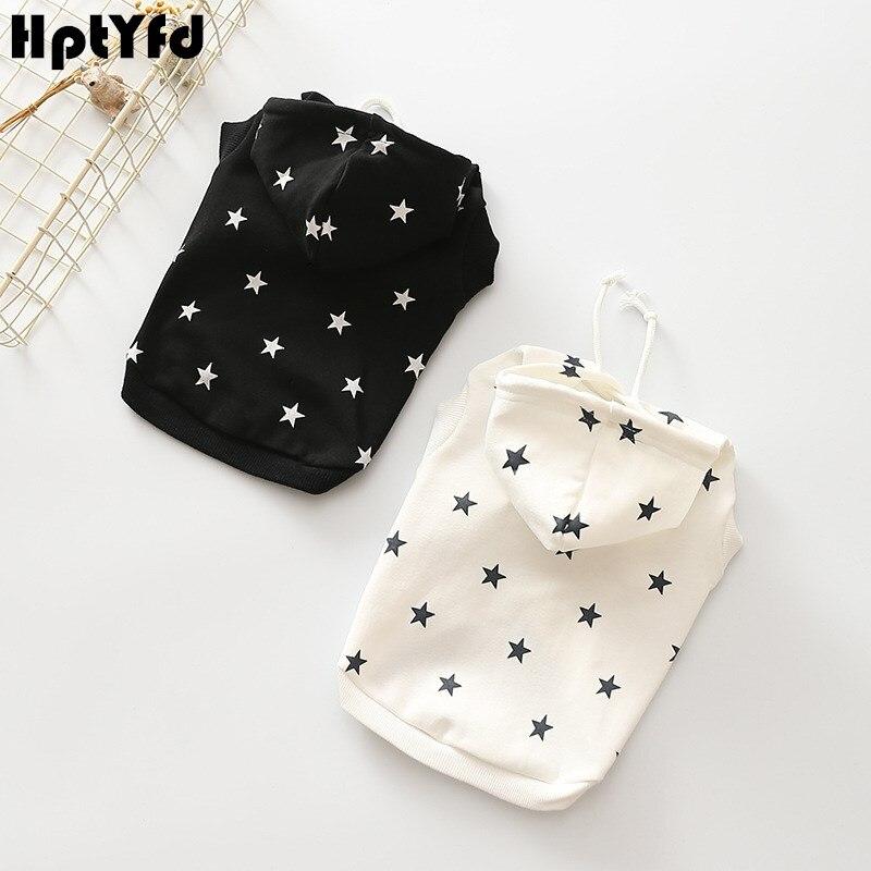 HptYfd модная одежда для домашних животных, кошек, собак, 100% хлопок, толстовка со звездами, пальто для собачки, продукт для маленьких и средних размеров, свитер для собаки, для отдыха