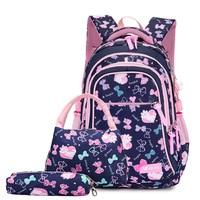 Waterproof Children School Bags For Girls Princess School Backpacks Kids Printing Backpacks Set Schoolbag Kids Mochila Infantil