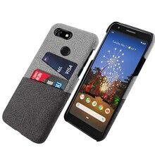 Pour Google Pixel 3A 3A XL étui rétro tissu porte-cartes Ultra mince couverture rigide pour Google Pixel 3 3 XL 2 2 XL 4 XL
