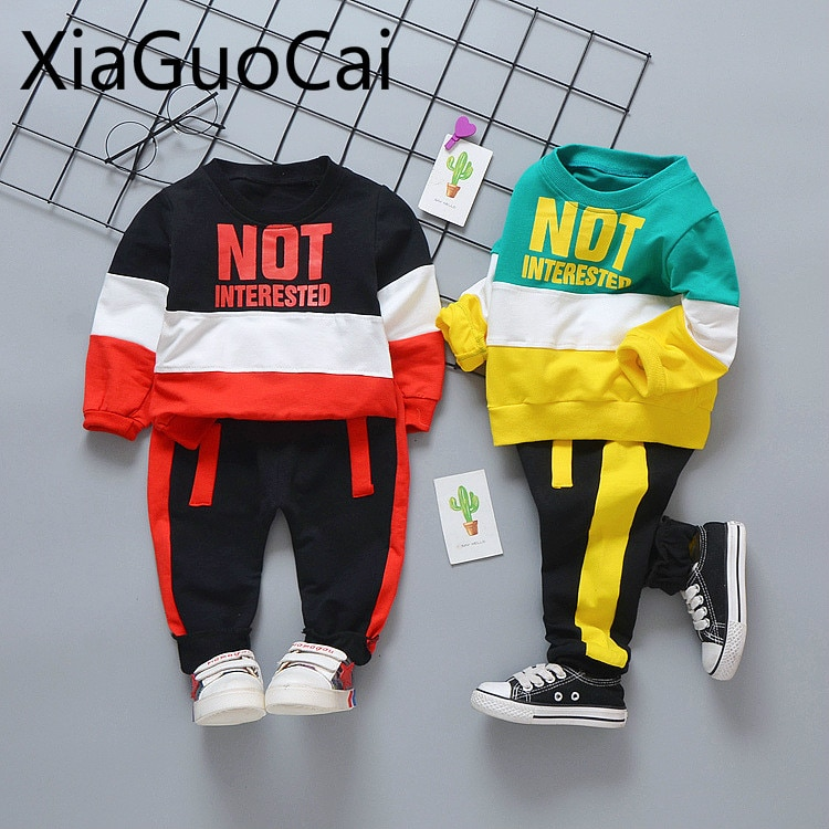 Kids Clothes Sets Spring and Autumn Baby Casual Shirt and Pants Long Sleeve Trousers Two-piece Suits