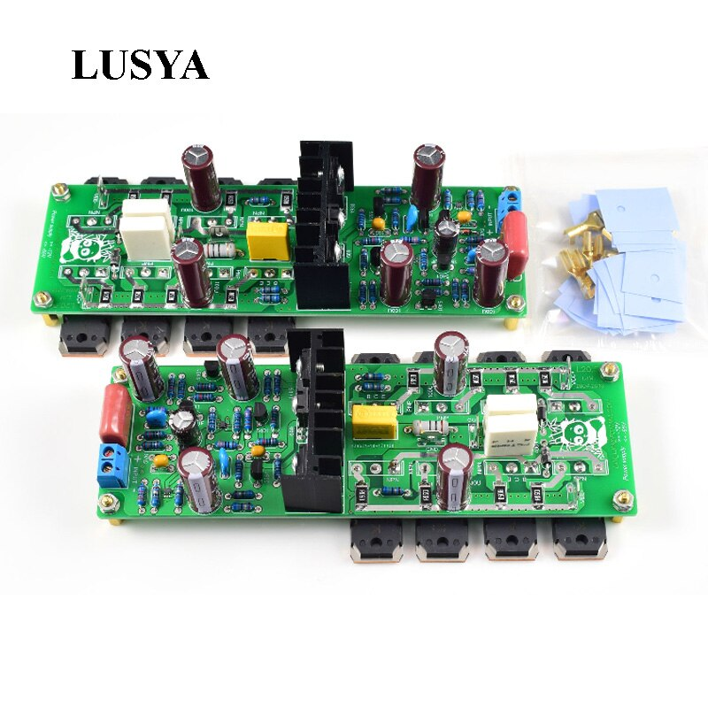 Lusya 2 canais l20.5 250 w * 2 placa de amplificador de potência de áudio hiend ultra-baixa distorção kec ktb817 diy kits
