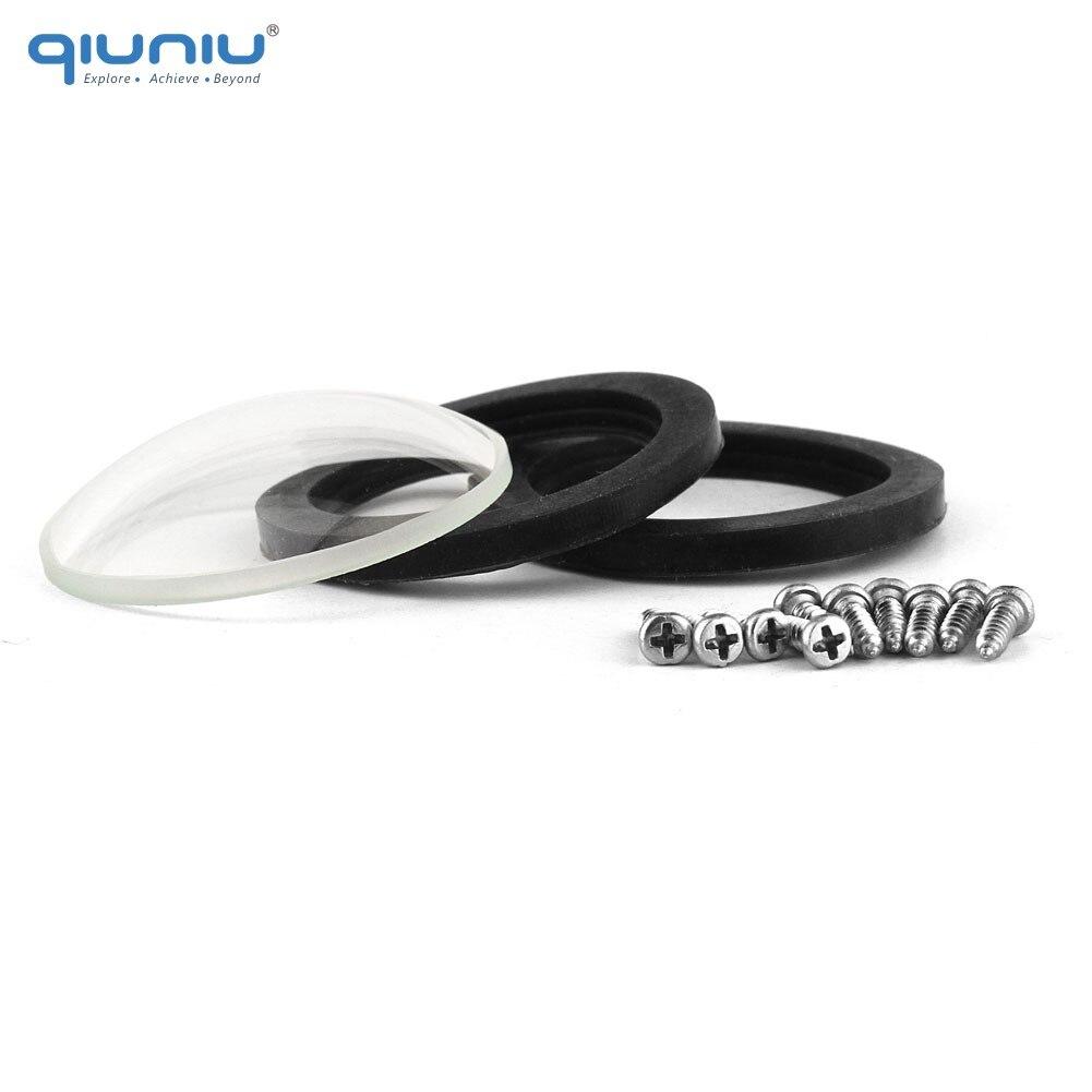 Lente de cubierta de cristal QIUNIU para funda carcasa impermeable Kit de reemplazo de cubierta de lente para GoPro Hero 2 Hero2 para accesorios Go Pro