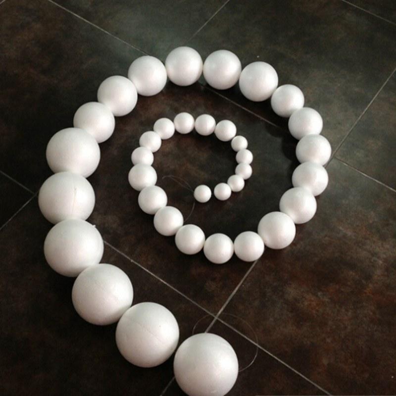 1000 teile/los 30mm Polystyrol kugeln, schaum ball, styropor styrol bälle, DIY Schaum bälle, DIY materialien 004002002