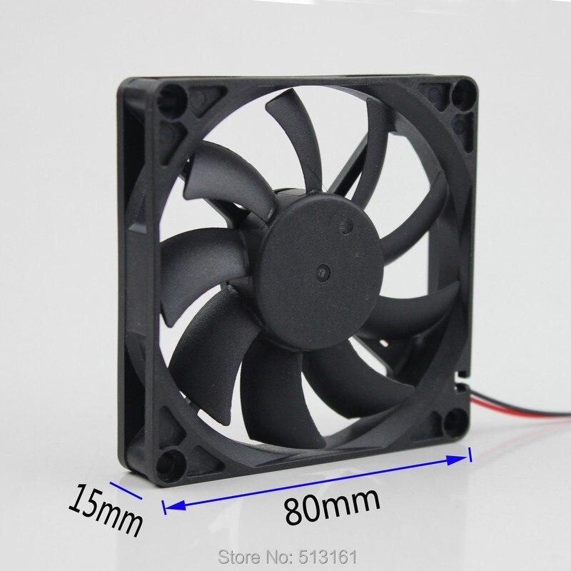 5 unidades 80x80x15mm 80mm 8015B 24 voltios enfriador de corriente continua sin escobillas Cojinete de bolas del ventilador