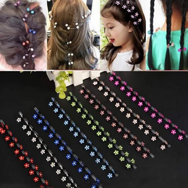 New Hair Clip Bridal Flower Crystal Rhinestone Accessories Mini Hair Claw Snowflake Wedding Party Hair Clip for Girls 6 Pcs