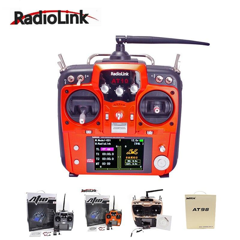 RadioLink AT9 AT9S AT10 II 2,4G 10CH transmisor de Control remoto R12DS transmisor receptor MÓDULO DE PRM-01