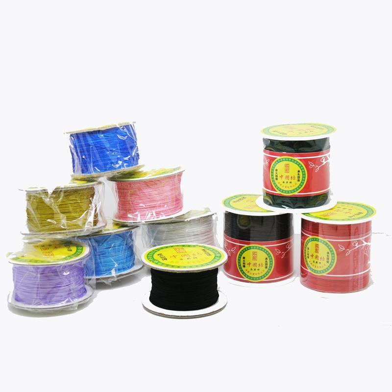 0,5mm 38-Color hilo de Nylon chino nudo macramé cuerda pulsera trenzado borlas rebordear hilo de cuerda-150 M carrete