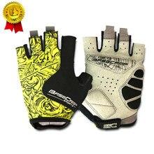 BASECAMP marque gants de cyclisme gants de vélo de route hommes Sports demi doigt anti-dérapant Gel Pad M-XL 5 couleurs vtt vélo de route vélo gant