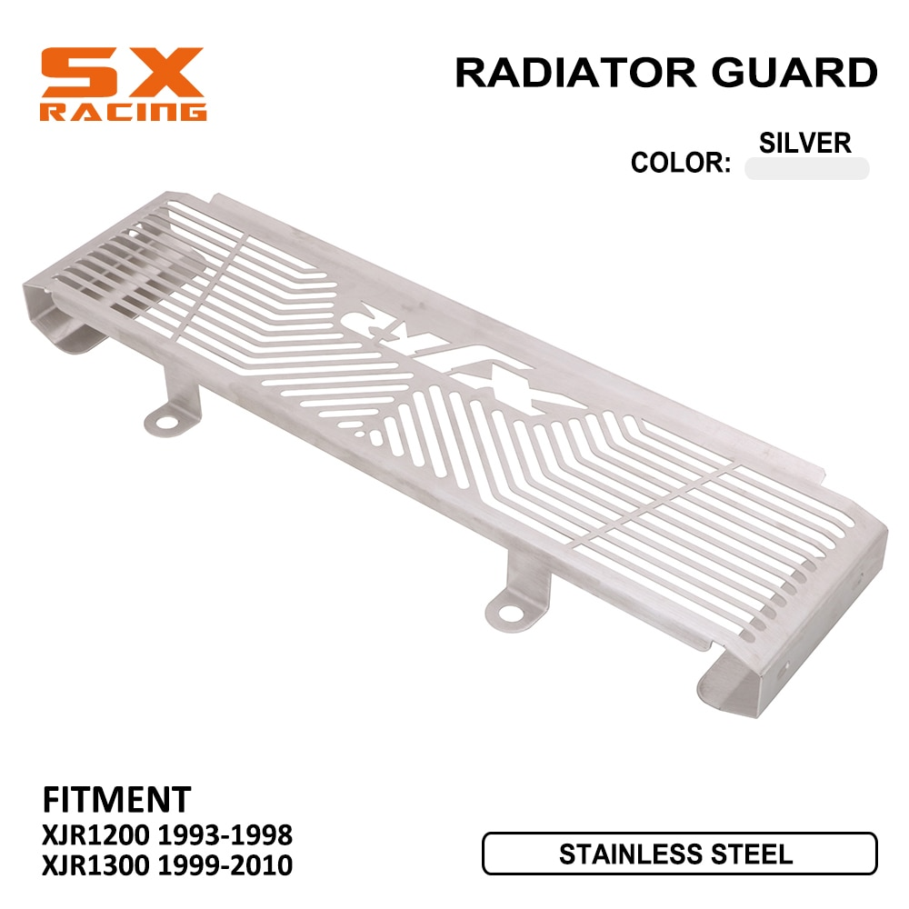 Accesorios protectores de refrigeración de motor de motocicleta cubierta de protección para radiador para YAMAHA XJR1200 XJR 1200 1993-1998 XJR1300 1999-2010