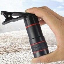 12x18 hd zoom telefone telescópio lente óptica monocular celular móvel mini câmera escopo clipe para iphone samsung htc huawei lg xiaomi