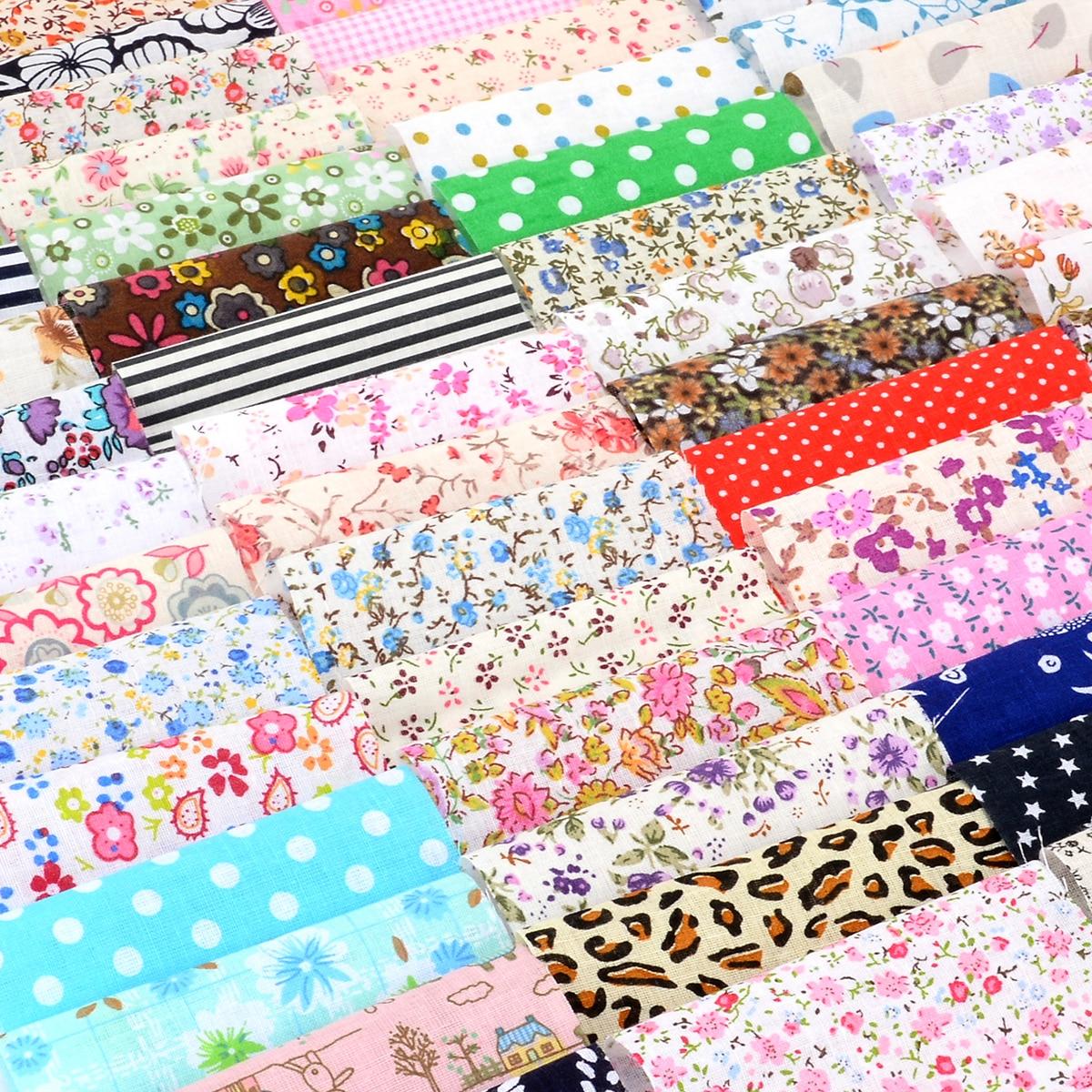 Lote de 60 unids/set de tela de algodón DIY, tela de retales para coser, acolchar, tejidos, ropa de cama de costura, textil 10x10cm