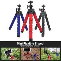 Mini Flexible Tripod Sponge Octopus With Phone Clip For iPhone Xiaomi Huawei Smartphone Gopro Camera Accessories Tripod