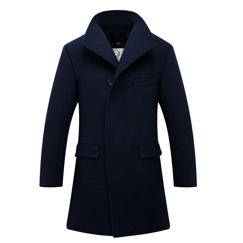 Abrigo de lana de moda para Hombre chaqueta de lana de invierno...