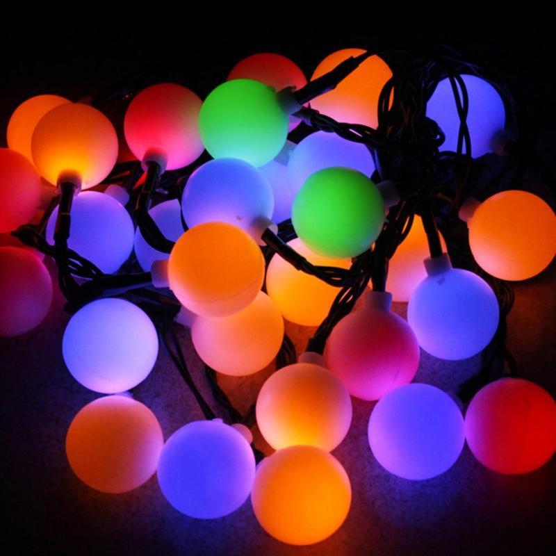 6m 30 LED Cadena de luz de Navidad Fiesta exterior impermeable Luz de hadas Solar