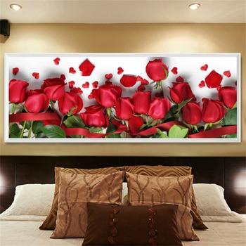 5D алмазная картина горный хрусталь Вышивка крестом Красная роза цветок Баннер Новый Diy Алмазная вышивка Цветочная мозаика распродажа домаш...