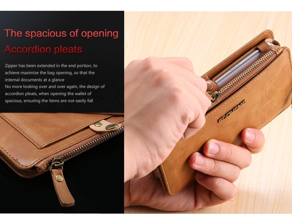 Floveme retro skóra telefon case do samsung galaxy note 3 4 5/s7/s6 edge plus metalowy pierścień coque karty portfel ochronne pokrywa 10