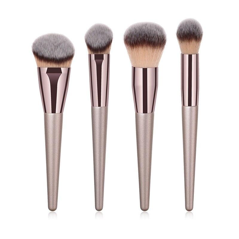Набор кистей для макияжа, 4 шт., пудра, румяна, растушевка, консилер, контур, хайлайтер, средство для макияжа лица