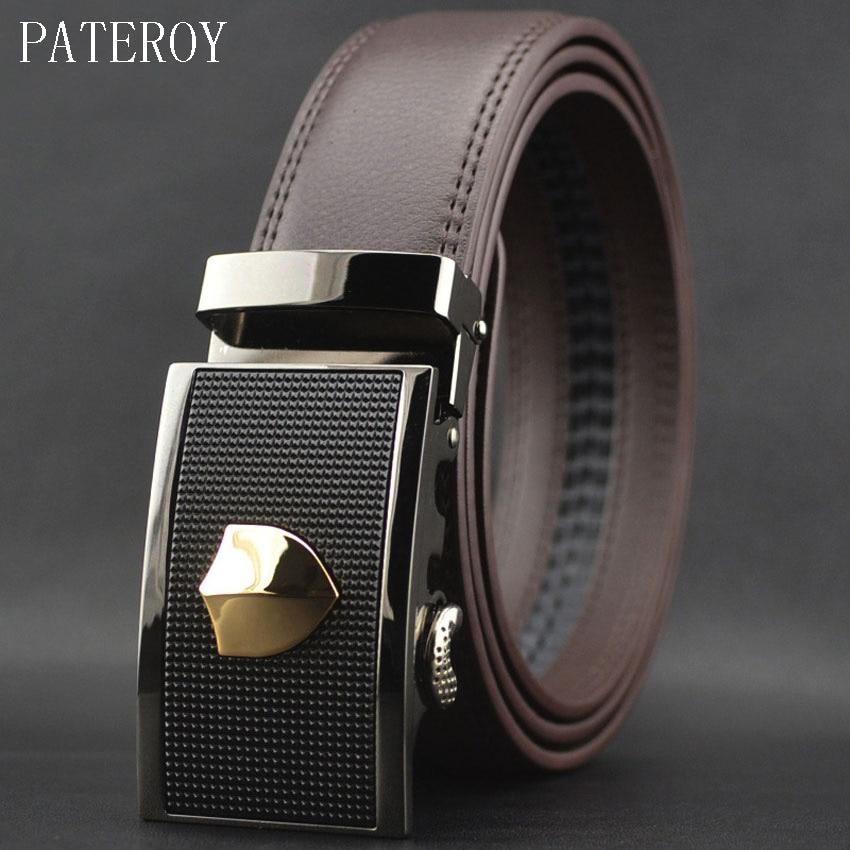 Cinturón de cuero genuino para hombre, cinturones de diseño, cinturon de alta calidad para hombre, Ceinture Homme, correa de cintura automática