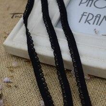 #1167 Black Lace Elastic Band 8yards/lot Edge Waistband Rubber hair Elastic bands Nylon Webbing DIY Pants Bra Accessories Sewing