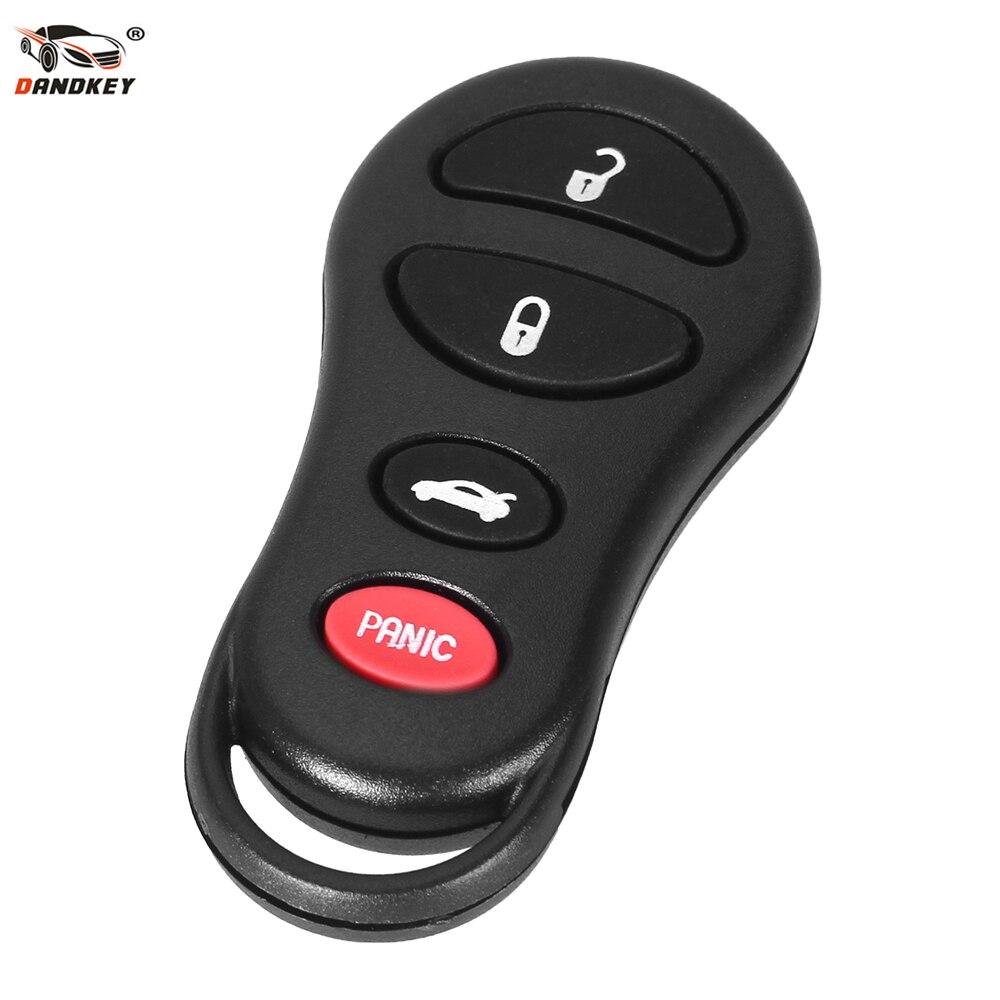 Dandkey 4 botones remoto sin llave estuche para mando a distancia para Jeep libertad para Dodge Intrepid Stratus Viper Sebring Chrysler LHS