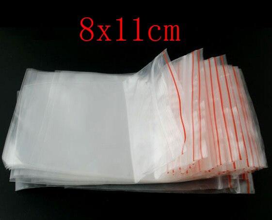 """Doreen Box bolsas de plástico con cierre de cremallera rectángulo (espacio utilizable 11cm x 8 cm) 12cm x 8cm (a 4 6/8 """"x3 1/8"""") 500 Uds 2017 Nuevo"""