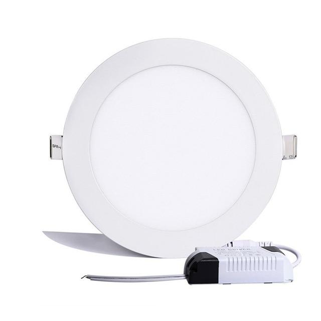 1 шт. ультратонкое светодиодное потолочное освещение 6 Вт 9 Вт 12 Вт 15 Вт 25 Вт круглое потолочное утопленное пятно света AC85-265V лампа Painel освещение для помещений