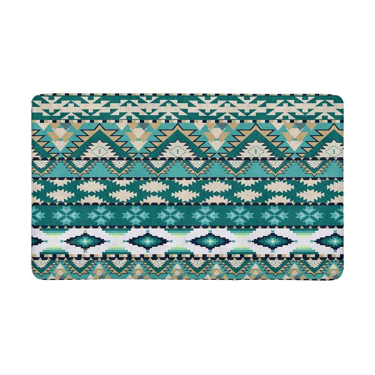 Diseño continuo Aztecs, Felpudo de Color frío, Felpudo de entrada antideslizante, felpudo, Felpudo de puerta interior/delantera, decoración del hogar, respaldo de goma