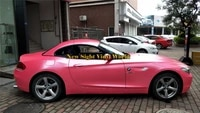 best quality princesss pink satin matte metallic vinyl wrapping film air bubble free vehicle wraps foil sticker