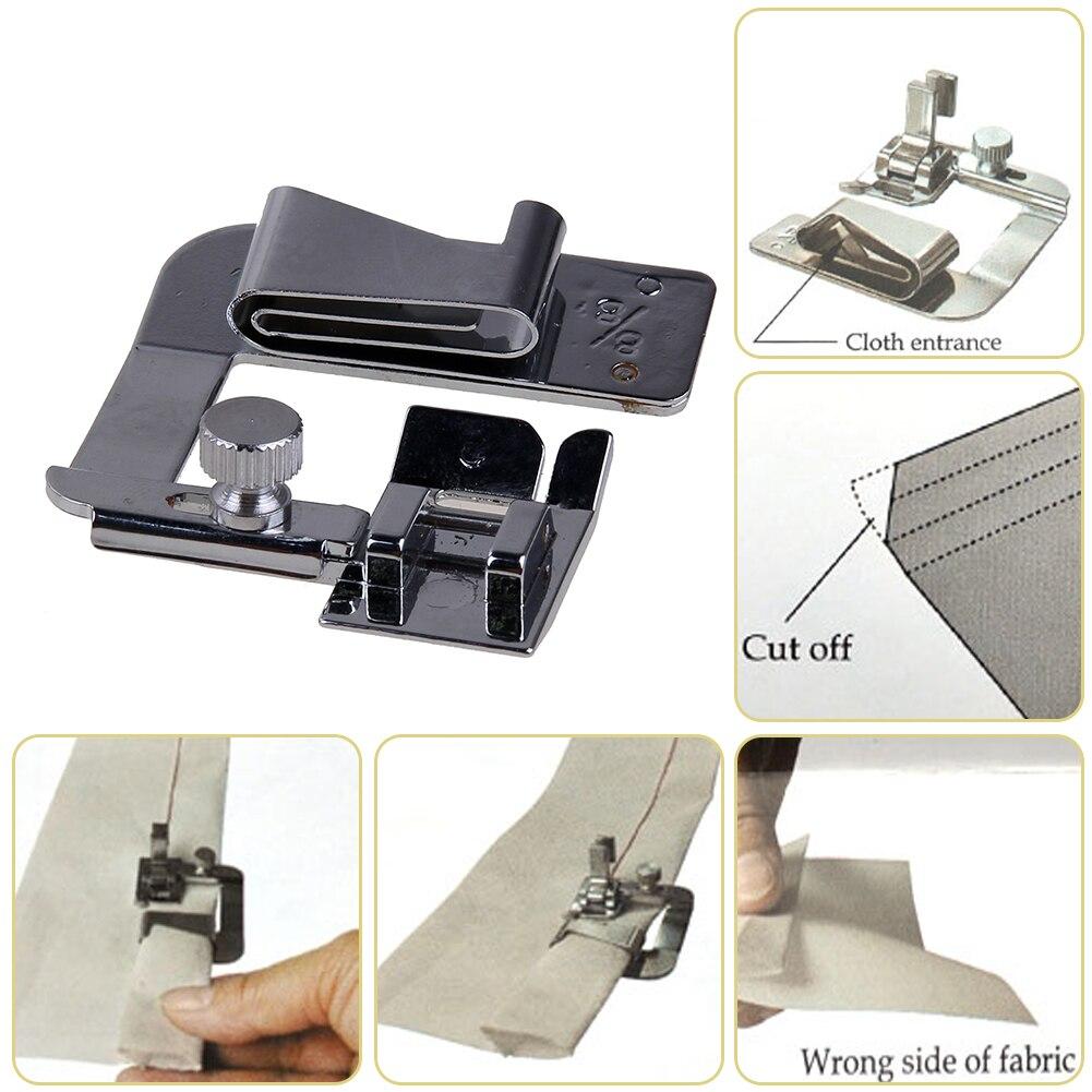 Edelstahl Gerollt Saum Presser Füße für Nähmaschine Teile Nähfuß Füße Säumer Fuß Inländischen Häkeln Werkzeug