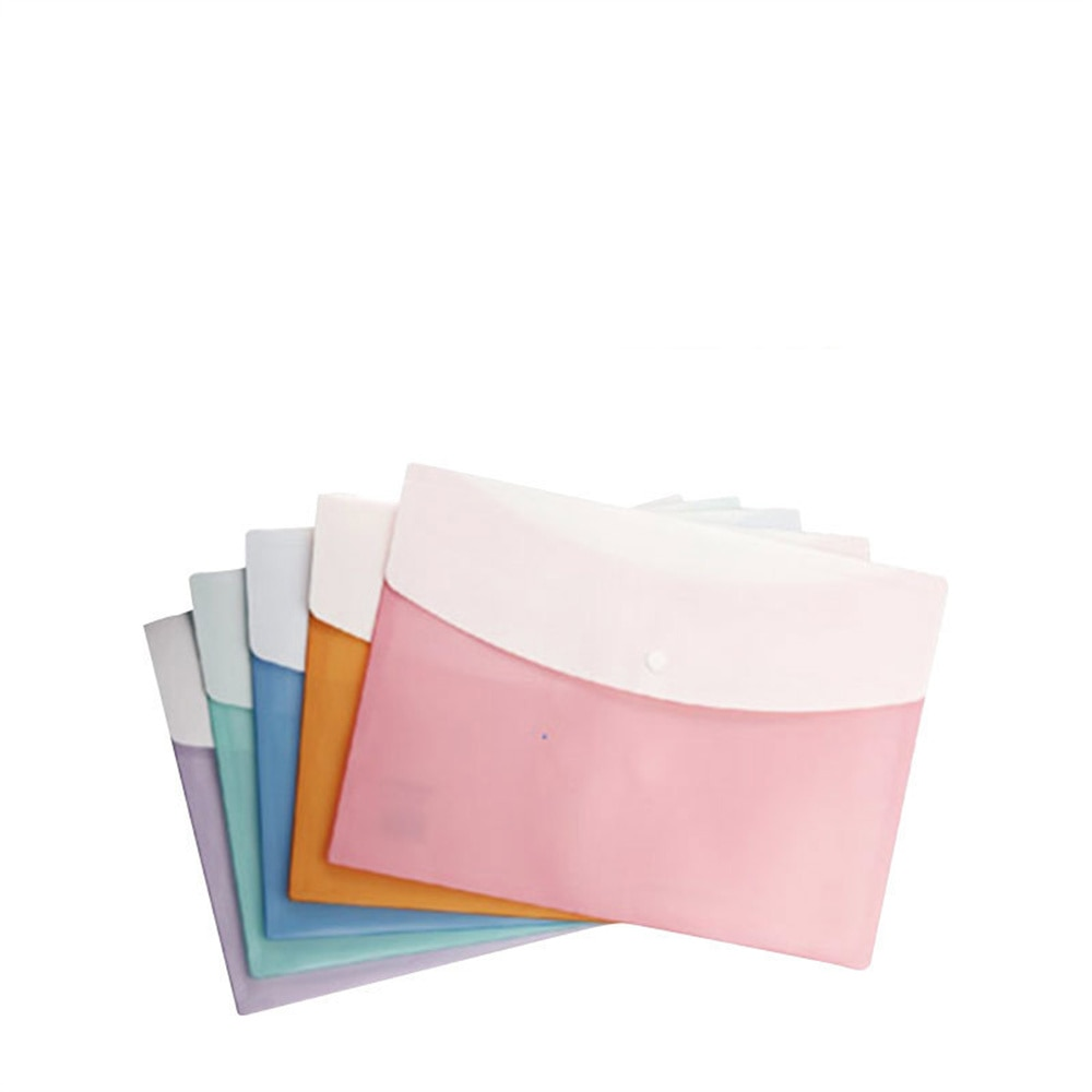 5pcs/Pack A4 Size File Folder Organ Bag Organizer Paper Holder Document Office School Supplies