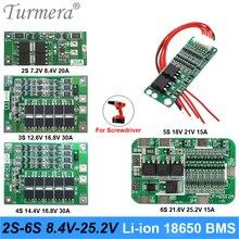 2S 3S 4S 5S 6S Li-Ion Lithium Batterij 18650 Charger Pcb Bms Bescherming Boord Voor schroevendraaier Batterij Lipo Mobiele Module Turmera