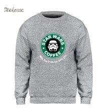 Star Wars sweat à capuche hommes café sweat-shirt que la mousse soit avec vous sweat-shirts 2018 hiver automne polaire chaud marque vêtements hommes