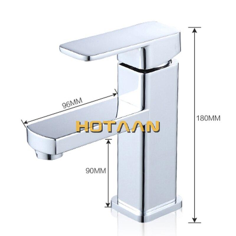 Mélangeur de lavabo robinet deau froide et chaude, livraison gratuite, robinet de salle de bains à poignée unique torneiras do banheiro