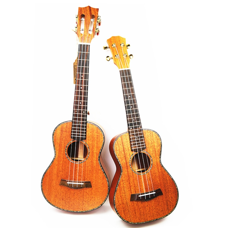 "26 ""Tenor Ukelele todo madera maciza hawaiana 4 cuerdas guitarra caoba cuerpo Ukelele alta calidad profesional Uku"