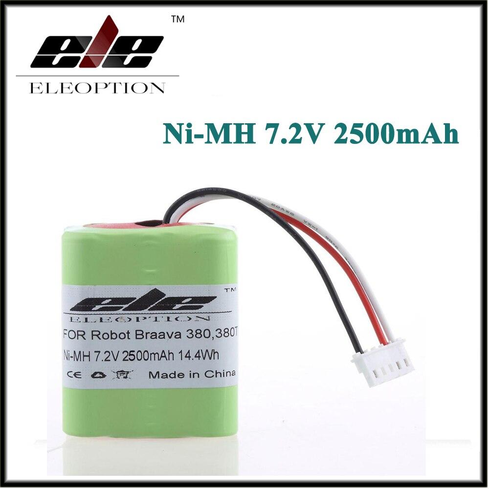 Eleoption 2.5Ah 2500mAh Ni-MH 7,2 V аккумуляторная батарея для iRobot Roomba Braava 380 380T