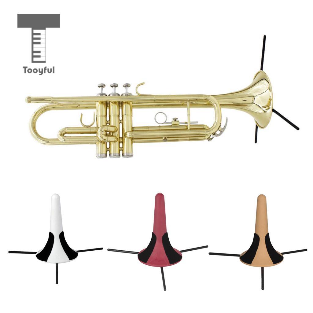 Tooyful LADE desmontable plegable trompeta trípode soporte de latón partes de instrumentos (incluyendo cepillos, silenciamiento, guantes)