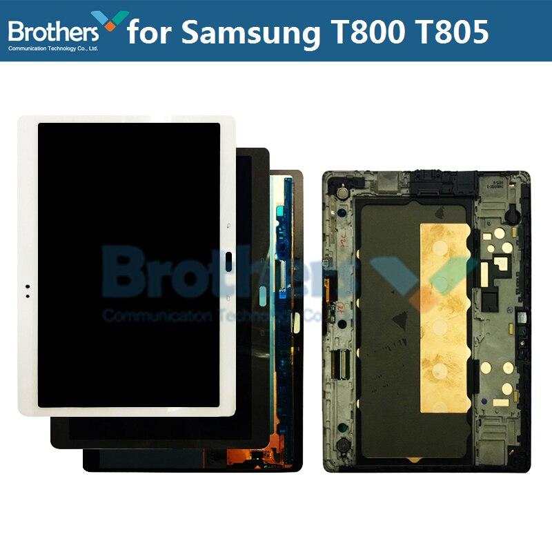 شاشة AMOLED LCD لسامسونج جالاكسي تاب S T800 T805 شاشة LCD لسامسونج SM-T800 SM-T805 LCD الجمعية شاشة تعمل باللمس محول الأرقام