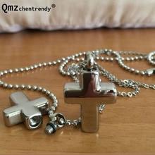 Bijoux funéraires crémation ouvrable en acier inoxydable pendentifs croix cendres pendentif urne souvenir urne collier pour animaux de compagnie bijoux