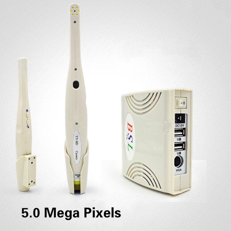 Cámara con megapíxeles Intraoral Dental Intraoral 5,0 Cámara endoscopio oral 6 micro USB Cámara de Control de luz